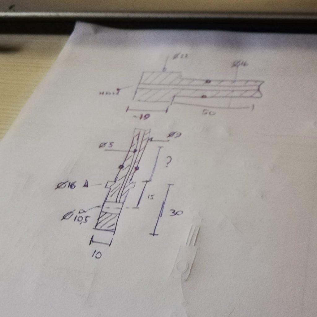 Sketch riparazione custom moto Brescia